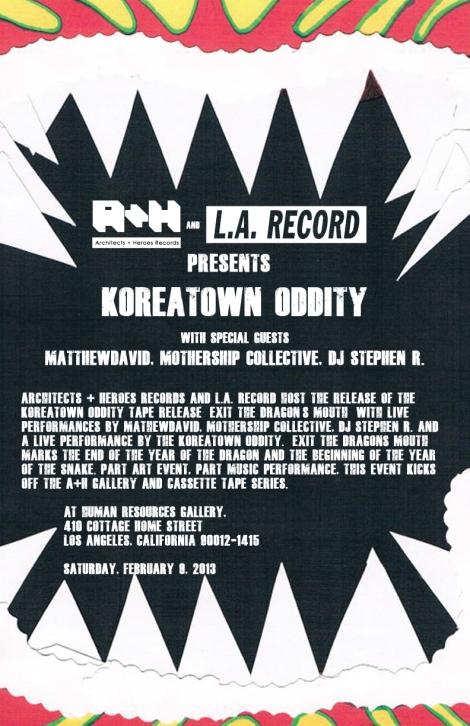 Koreatown Oddity February 9th