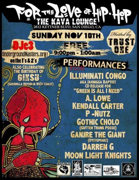 November 10th @ Kava Lounge